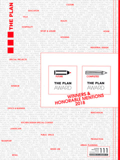 THE PLAN AWARD 2018 Catalog